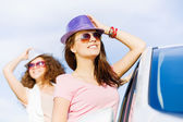 Women near car — Stock Photo