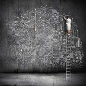 Big business plan — Stockfoto