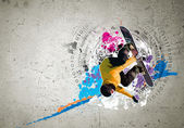 Graffiti image — Stock Photo