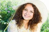 Meisje in hoed — Stockfoto
