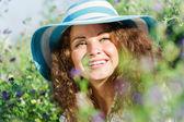 Girl in hat — Fotografia Stock