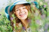 Girl in hat — Zdjęcie stockowe