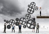 Concept de travail d'équipe — Photo