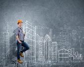 Man engineer — Stock Photo