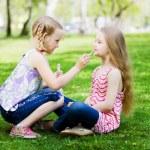 Little girls in park — Stock Photo #41114447