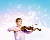 Boy violinist — Stock Photo