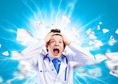 Galna läkare — Stockfoto