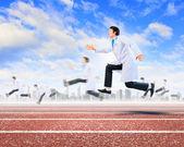 Running doctor — Stock Photo