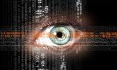 Immagine digitale dell'occhio di donna. concetto di sicurezza — Foto Stock