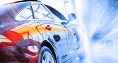 Rear view of luxury car — Foto de Stock