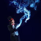 帽子的魔术师 — 图库照片