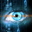 Digital image of woman's eye. Security concept — Stock Photo #41123323