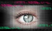 Digital image of woman's eye. Security concept — Stock Photo