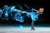 Pequeña niña de patinaje — Foto de Stock
