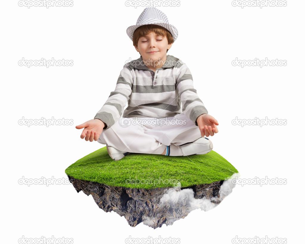 小可爱男孩放松 — 图库照片