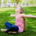 Little girl in park — Stock Photo #41135417