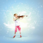 Girl playing violin — Stock Photo