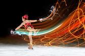 Pequena menina de patinação — Foto Stock