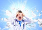 сумасшедший доктор — Стоковое фото