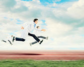 Running doctor — Стоковое фото