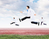 Running doctor — Stock Photo