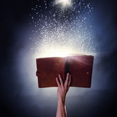 Magic book — Stock Photo