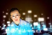 Woman scientist — Stock Photo