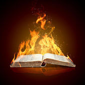 Livre brûlant — Photo