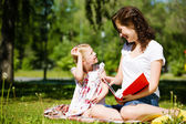 Kid with mom — Stock Photo