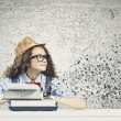 Stock Photo: Womwriter