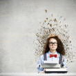 Woman writer — Stock Photo