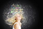 Ideas en mi cabeza — Foto de Stock