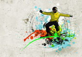 Graffiti image — Stok fotoğraf