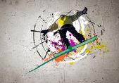 Graffiti image — Stock Photo