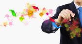 творчество в бизнесе — Стоковое фото