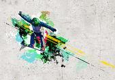 Graffiti image — Stockfoto