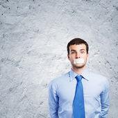Speechless businessman — Stock Photo