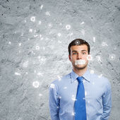 Speechless businessman — Stock Photo