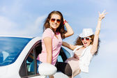 Women in car — Stock Photo