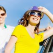 Couple near car — Stock Photo