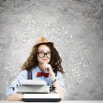 Woman writer — Stock Photo #41810887