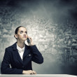 Upset businesswoman — Stockfoto #41811955