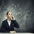 Stock Photo: Upset businesswoman