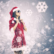 Stock Photo: Santgirl