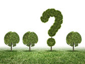Environmental questions — Stock Photo
