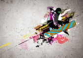 Graffiti image — Foto Stock