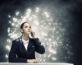 Upset businesswoman — Stock Photo