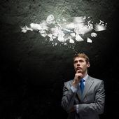 Thinking over an idea — Stock Photo