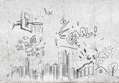 Dibujo de fondo — Foto de Stock