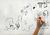 Bocetos de dibujo — Foto de Stock